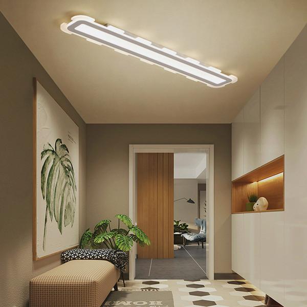 Großhandel Moderne Minimalistische Streifen Rechteckige LED Lampe  Badezimmer Badezimmer Wohnzimmer Gang Schlafzimmerlampe Kreativer Spiegel  ...