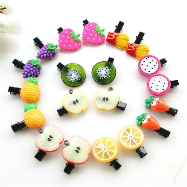 10 Unids / lote Corea Nueva Fruta Pinza de Pelo Niños Diadema de Acrílico Dulce Accesorios para el Cabello Boutique Flor Barrettes Regalo de la Muchacha Pato