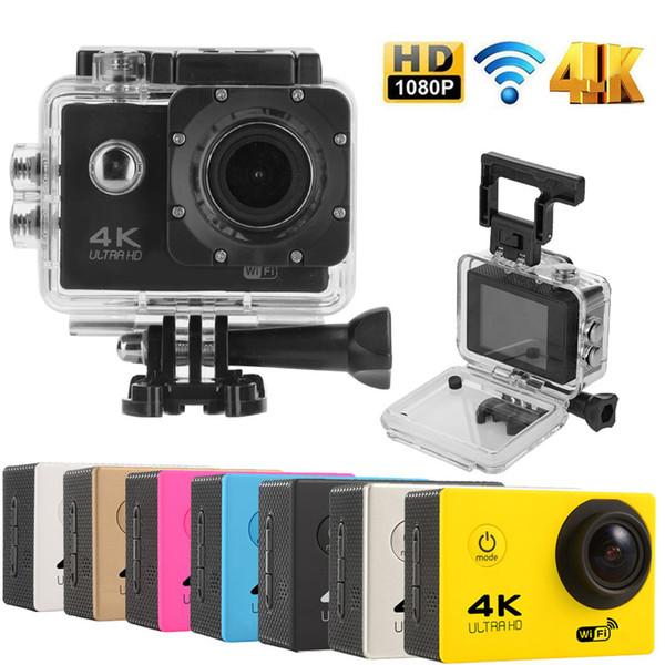 F60 Spor Kamera 4 K 30FPS Ultra HD DV 16MP WiFi Mini Kam Git 30 M Su Geçirmez Pro Eylem kamera Araba DVR DHL Ücretsiz Kargo
