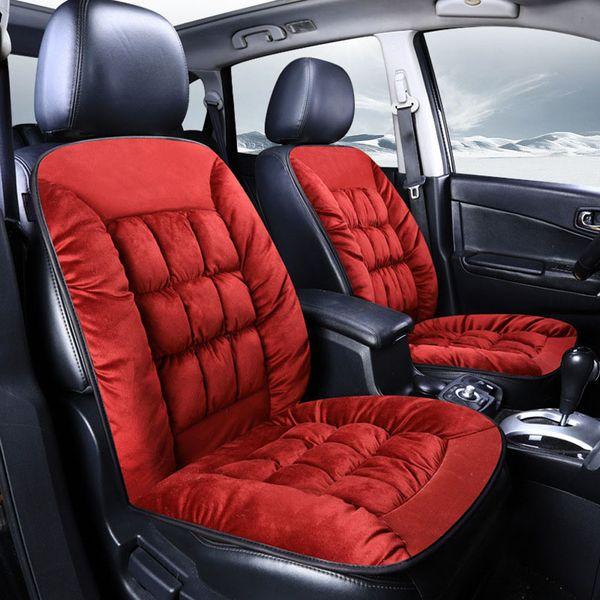 Warm Soft Velvet Plush Fabric Auto Seat Cushion Auto Seat Protector Chair Mat Pad Universal Jeep SUV Sedan Seat Cover 1pc