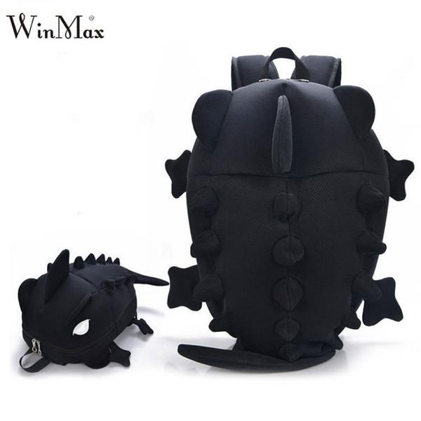 Factory Outlet 2018 Creative Kids 3D Animal Backpack Dinosaur Shape Children Primary Cartoon School Bags Teenager Book Schoolbag Y18110107
