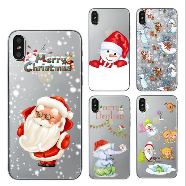 Für Apple iphone X iphone8 iphone 7 7 plus 6 s xr max tpu kreative camouflage zelle weihnachten telefon fällen