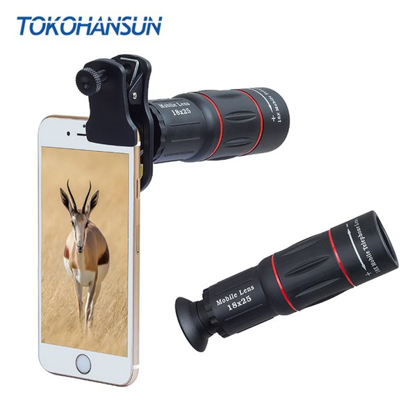 TOKOHANSUN 10pcs/lot Camera Lens universal 18X Telescope Zoom telescope Mobile Phone Lens for Xiaomi Honor Smartphones