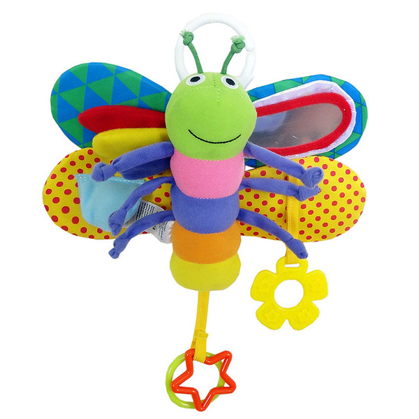 best selling Playpen 0-12 Month Baby Toys Stroller Bed Hanging Butterfly Handbell Mobile Rattle Early Education Plush Toys For Newborn -30