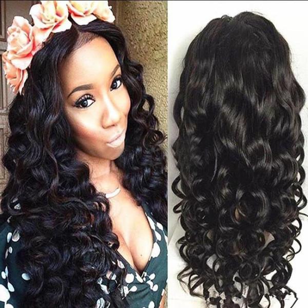 Brasilianische Körperwelle Lace Front 100% Echthaar Perücke für Frauen 130% Dichte Remy Haar Perücken mit Baby Haarfarbe 1B