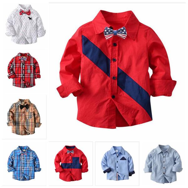 ae13b15b8629 Baby Boy Clothes Spring Autumn Kids Plaid Shirt Tops Toddler Cotton Shirt  Blouse Long Sleeve Shirts