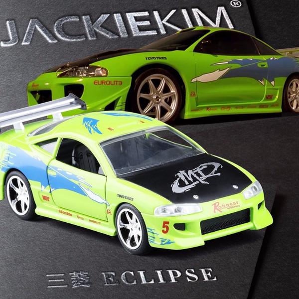 Novo 1:32 JADA Brian's 1995 Mitsubishi Eclipse Liga Diecast Modelo de Brinquedo Do Carro Para Crianças Presentes de Aniversário Coleção Frete Grátis