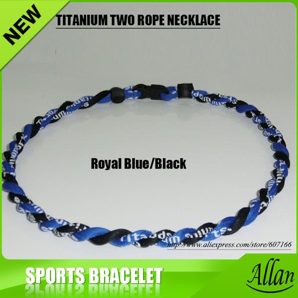 2017 zwei Seile Titan Halskette Twisted Football Baseball Halskette