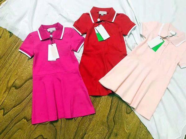 Le ragazze vestono l'estate 2018 nuovi vestiti da ricamo delle neonate Principessa Kids Pink Red Hot Pink Dresses for Girls Toddler Girl Clothing