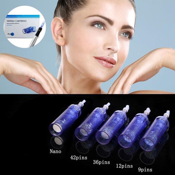 1/3/5/7/9/12/36/42 / Nano / para derma pen microneedle pen recargable dermapen Dr pen A1 Cartucho de aguja