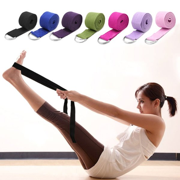 Verstellbare Sport Stretch Strap D-Ring Gürtel Gym Taille Bein Fitness Yoga Gürtel New W15