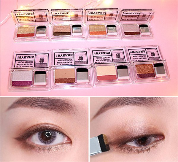 2018 hot NOVO double color gradient 2 colors eyeshadow lazy 3 seconds makeup color eye shadow box DHL shipping support wholesale Eye Shadow