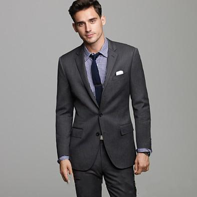 New Custom made wedding Suits Handsome Tuxedos Formal Suits Charcoal Business/Prom Wears Groomsman suits (Jacket+Pants)