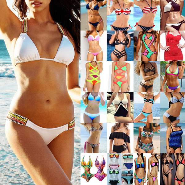 best selling Summer Bikini Set Swimwear for Women Ladies Two Piece Swimsuit High Out Strappy Bathing Suit Mix Colors High Quality Clothing