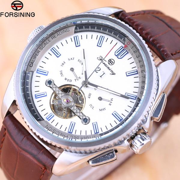 Forsining 2018 Top Brand Mens Mechanical Watches Automatic  Skeleton Watch Men Calendar Relogio Masculino dropship
