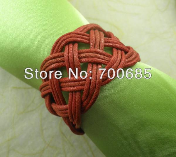 red handmade napkin ring for wedding , napkin holder