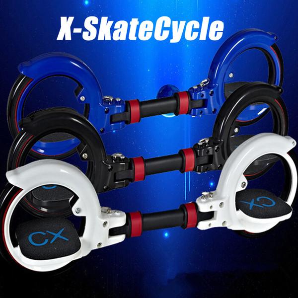 Neue CX8 Skatecycle Upgrade 2 Zwei Räder Skate Board Zwei Teile Roller Faltbare Drift Skateboard Stunt Scooter für Extreme Sports