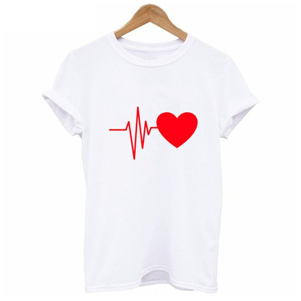 2018 Love Print T Shirt For Womens Summer T-shirt Casual Multicolor Pattern Funny Shirt Ladies Top Tee Fashion