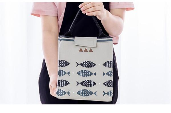 For Mom Aluminum Foil Keep Warm Pack Cooler Bag Picnic Bag Waterproof Set Lunch Box Bag Multi-function Outdoor Camping Portable Handbag