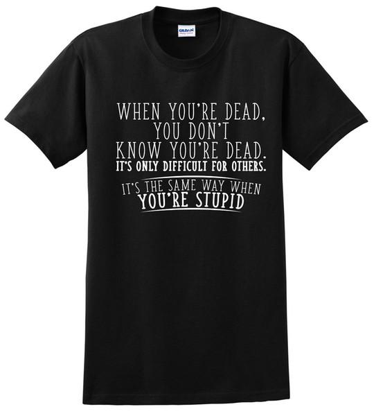 Ayrıntılar zu ne zaman senin kötü alaycı serin yetişkin ölü grafik hediye fikri mizah komik t shirt