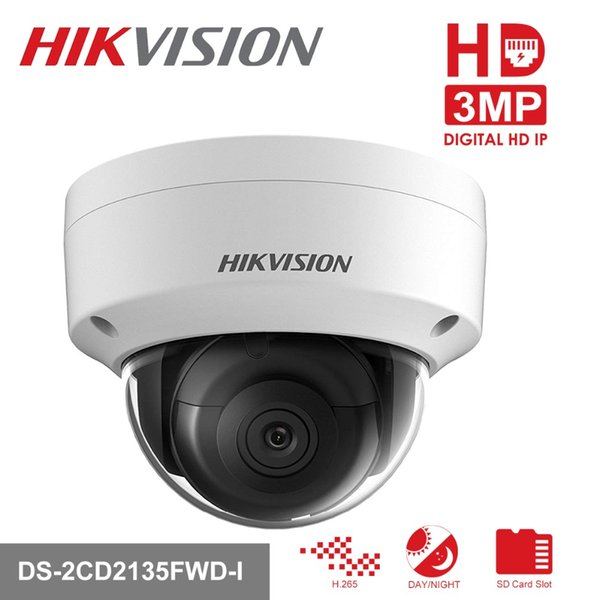Hikvision PoE IP Camera H 265 DS 2CD2135FWD I 3MP WDR Network CCTV Video  Surveillance Camera Built In SD Card Slot & Audio Port Online Cams Online  Ip