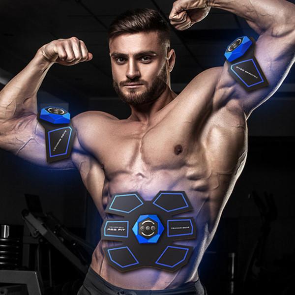 Smart Fitness Estimulador Muscular Abdominal Electronic Abdomen Exerciser Training Adelgazante Aparato de Entrenamiento Masajeador Intensivo