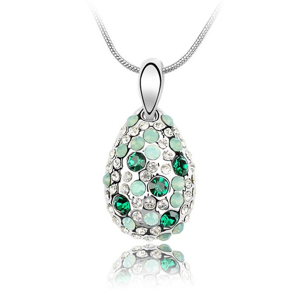 Opal crystal pendant necklace Made with Crystals from Swarovski fashion jewelry for women girls lover kids gift 2018