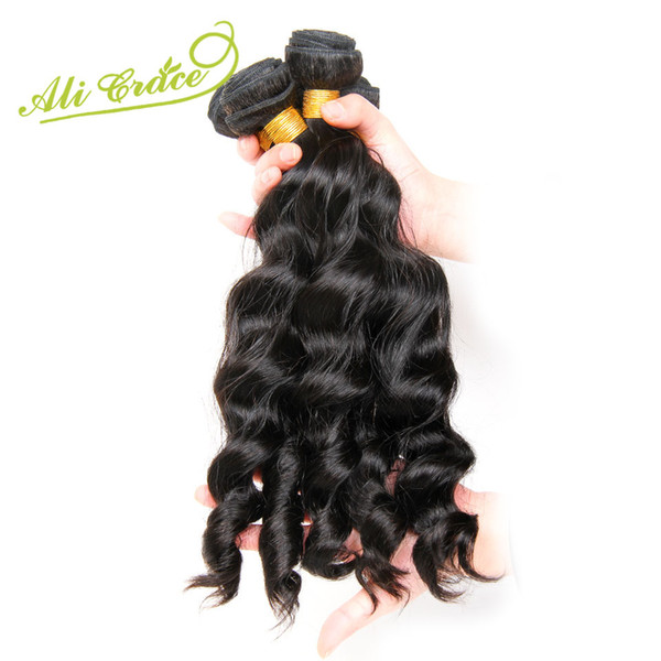 ALI GRACE Hair Malaysian Loose Wave 1 Bundle Natural Color 100% Human Hair Weaving Remy Extension Can Be Dyed