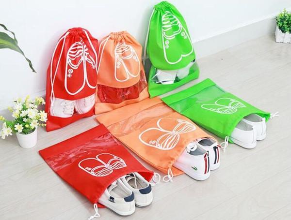10Pcs Non-Woven Fabric Shoes Storage Bags Women Men Dustproof Cover Shoes Bags Travel Beam Port Shoes Storage Bags