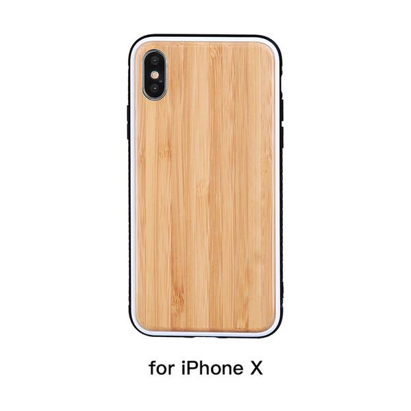 Soundfox Nouvelle Arrivée Cas Dur Antichoc Téléphone Cas pour iPhone X 8 7 Plus Protection Téléphone portable Couverture Arrière pour iPhone Série Bamboo Couleur
