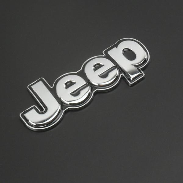 Personalidade do carro decoração do corpo adesivos JEEP Jeep 4X4 metal modificado padrão do carro logotipo Limitada adesivo de liga de zinco