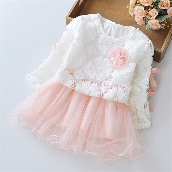Baby Girls Petals /& Lace Dress Girls Rule