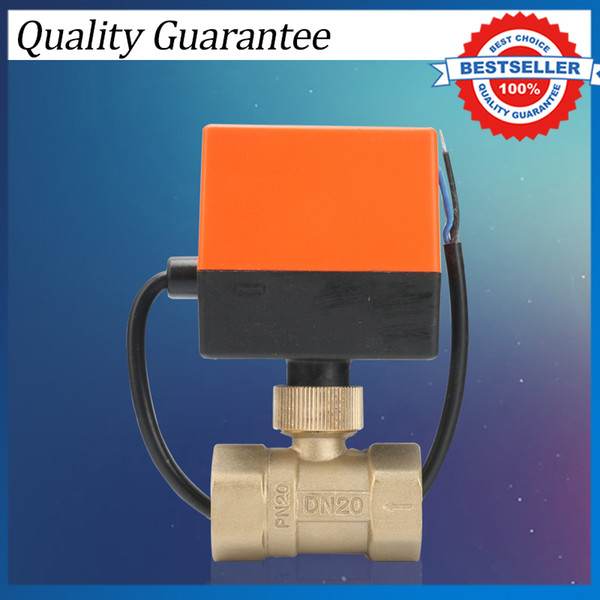 2 Way Brass Motorized Ball Valve 220V Three Line Two Control