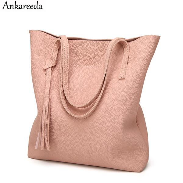 420c3485b4d06 2019 moda Ankareeda bolso de cuero suave de las mujeres de alta calidad  bolso de hombro