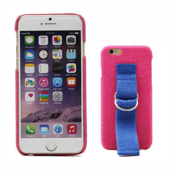 Cubierta de la caja del teléfono para IPhone 6S 7 7 Plus X Arm Belt PU + Lace Straps Back Bags