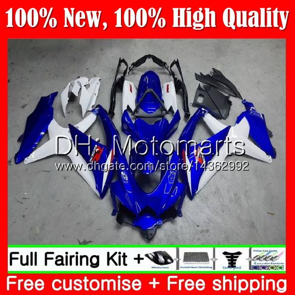 Cuerpo para SUZUKI GSXR750 08 09 10 K8 GSXR 600 08 10 26MT21 GSX-R750 GSX-R600 GSXR 750 GSXR600 2008 2009 2010 Azul blanco carenado Carrocería