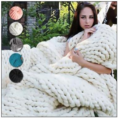 20 Colors 60*60cm Chunky Knit Blankets Merino Wool Handmade Blanket Sofa Air Condition Bed Weave Knitted Photography Blankets CCA8464 20pcs