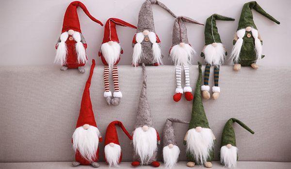2018 ultimo nuovo elenco bambola di Natale forniture di decorazione di Natale Nessuna bambola bambola faccia Wind vecchia decorazione ciondolo finestra