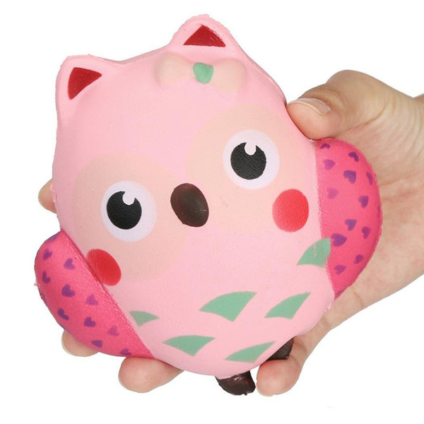 New arrival 12 CM Squishies Jumbo Slow Rising Kawaii Sweet Squishy Owl Charm Animal Decompress Toy wholesale