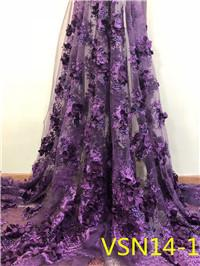 Beautiful fancy embroidery 3d mesh net fabric Africa lace for woman dress