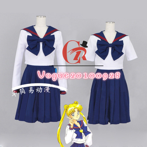 Sailor Moon Summer/Winter School Uniform Sailor Suit Cosplay Costume dress