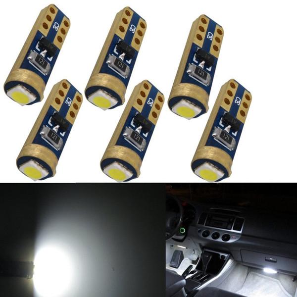 WLJH 12V Car Light Led T5 W3W 37 73 74 Wedge Instrument Panel Cluster Lamp Dashboard Gauge Dash Bulbs Light For Honda Ford