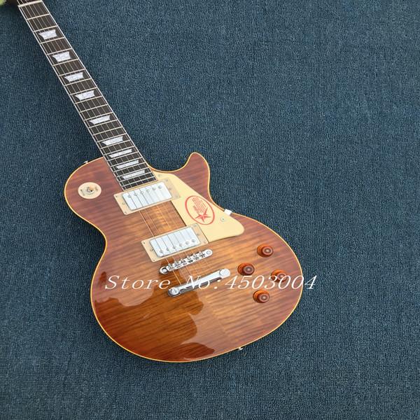 Ultimate Custom 1958 Slash Signée 2017 Édition Limitée Anaconda Burst Flame Top Guitare Électrique Trans Dark Brown Retour
