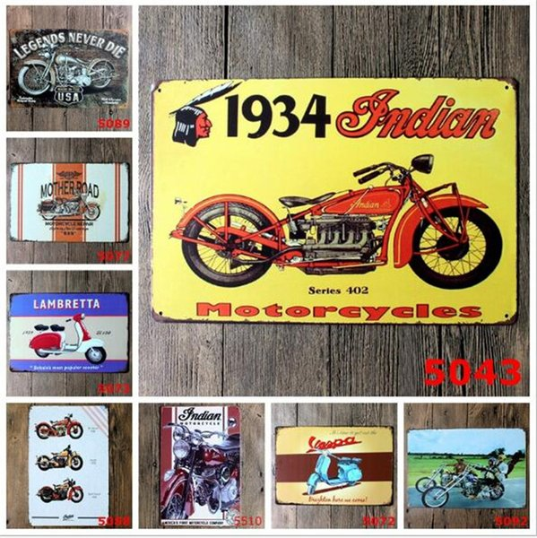 200pcs different themes beer garage warning Motor Vintage Craft Tin Sign Retro Metal Painting Poster Bar Pub Wall Art Sticker C014