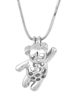 Little Bear Jaula Colgantes Oyster Lockets Para DIY Deseo Amor Perla Colgante 925 Joyería de Moda Encanto de Plata