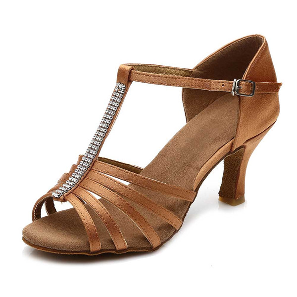 Hot sale Brand Women's Modern Ballroom Latin Tango Dance Shoes heeled