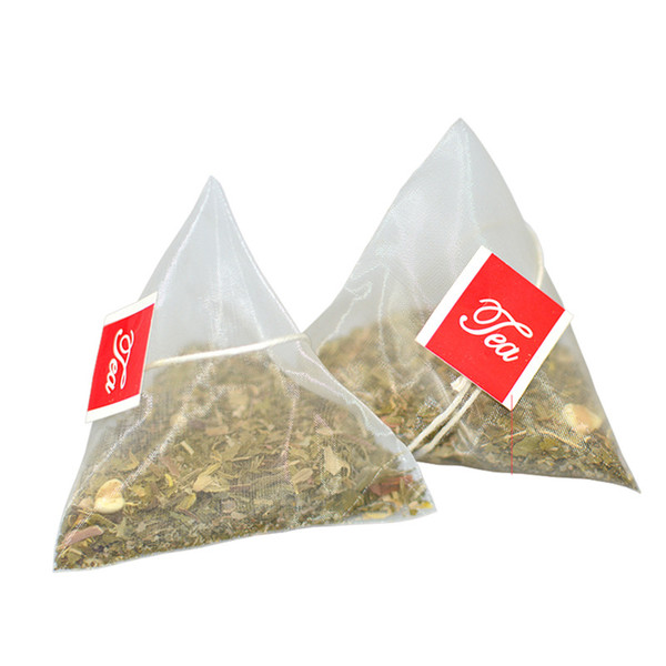 best selling 6.5*8cm Empty Disposable Teabags with Label String Nylon Filters Herb Tea Infuser Strainers Kitchen Gadgets 1300pcs