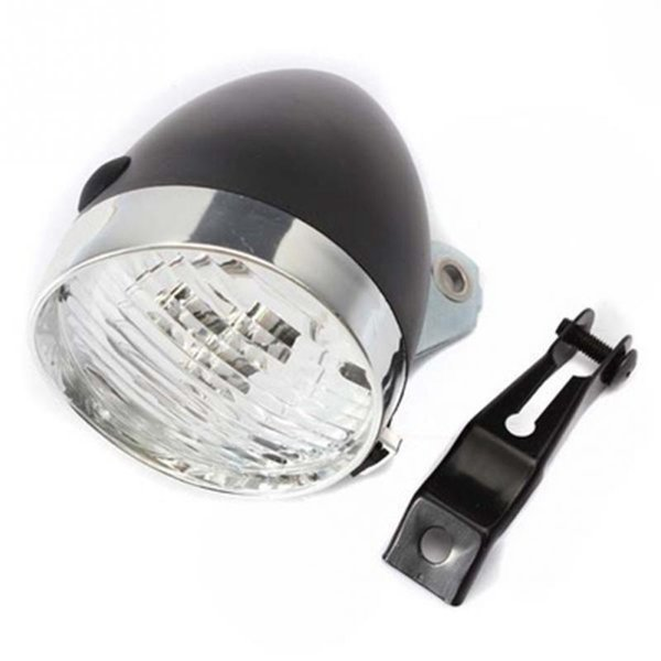Retro Bicycle Bike 3 LED Front Light Headlight Vintage Lamp bicycle Headlight with Bracket