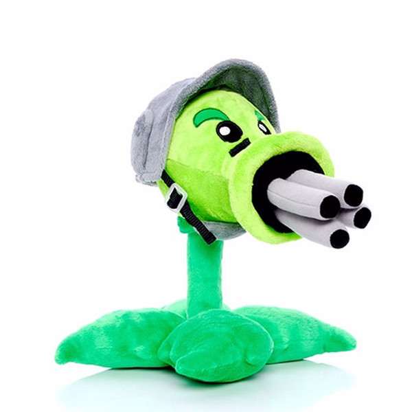 Star Product 12Inch 30Cm Lovely Plant Vs Zombies Popcap Gatling Peashooter Soft Stuffed Stuffed Plush Toy