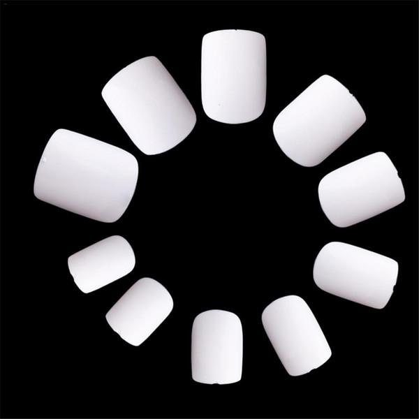 600 stücke Kurze Art Platz Zeichnung Nagelspitzen Falsche Nägel Volldeckung Weiß Klar Natürliche Uv Gelpoliermittel Malerei Muster Tipps